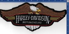 "Authentic HARLEY-DAVIDSON Motorcycles Brown Eagle Down Wing NOS 11 1/2"" X 5"""