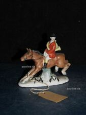 +#A000471_01 Goebel Archivmuster, FO 650/A, Pferd m. Reiter Jagdszene TMK1+2