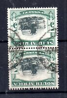 South Africa 1933 5/- black & green fine used Inverted WMK SG64AW WS19580