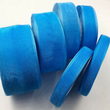 50 Yards (10mm-50mm) Blue organza Ribbons Wedding Party Sewing Decorations 12