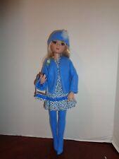 PRETTY BLUE COAT/ DRESS OUTFIT FOR ELLOWYNE WILDE DOLLS