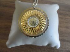Vintage Starlite 17 Jewels Wind Up Necklace Pendant Watch
