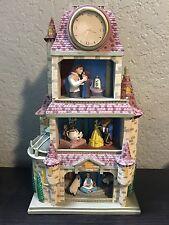 Disney Beauty And The Beast ENCHANTED LOVE Figurine Diorama Clock