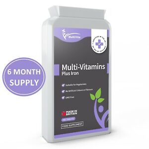 Multivitamins with Iron + Vitamin A, C, B6 B12 D3 & More 180 Vegetarian Tablets