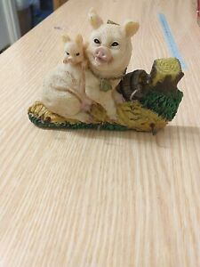 Piggy Mom And Baby Small Decoration