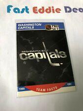 PRO SET NHL HOCKEY 1990 WASHINGTON CAPITALS TEAM FACTS CARD 585 EXCELLENT