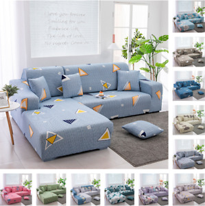 1 2 3 4 Seater Sofa Slipcovers Stretch Slip Covers Couch Furniture Printed Cover
