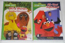 Kid DVD Lot - Sesame Street All-Star Alphabet (New) Wild Words Outdoor Adventure