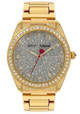 BETSEY JOHNSON BJ00190-67 Women's Crystal Gold-Tone Bracelet Watch NEW**
