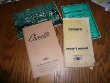 1968 1978 1981 1987 Owner's Manuals - Lot 4 - Glove Box Camaro Caprice Chevette