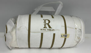 Royal Therapy Memory Foam Neck Bamboo Adjustable Side Sleeper Pillow White L731
