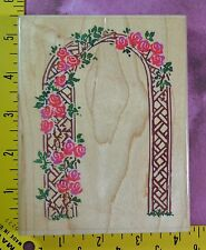 ROSE ARBOR flowered arch garden wedding by Stampendous R001 rubber stamp #1740
