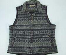 Woolrich Women Southwestern Native American Wool Blend Full Zip Vest Jacket Sz L