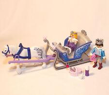 PLAYMOBIL PRINCESSE - traineau royal - prince et princesse des glaces -