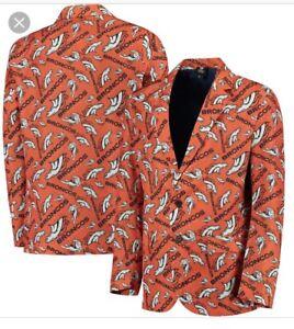 NFL DENVER BRONCOS Repeat Logo Ugly Business Jacket ~ Men's Large ~ NEW!!!