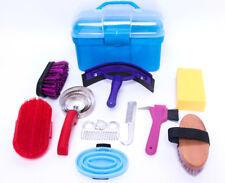 New Horse Grooming Kit Set 10 Pieces Barn Stable Supply Brushes Hoof Pick Sponge