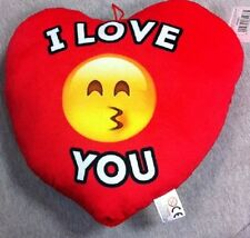 + CUORE FACCINA EMOTICON IN PELUCHE REGALO S. VALENTINO TI AMO I LOVE YOU SMAILE