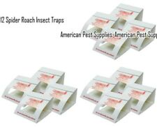 12 Spider Roach Insect Traps Brown Recluse Spider Scorpion Cricket Sticky Traps
