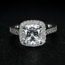 Cut - Size 5 - Beautifully Crafted Engagement Ring - Cubic Zirconia - Cushion