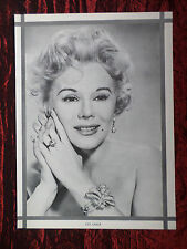"""EVA GABOR - FILM STAR - 1 PAGE PICTURE -"""" CLIPPING / CUTTING"""""""