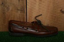 Vintage DEXTER Brown Leather Boat Shoes Women's Sz. 7.5 N - Made in USA