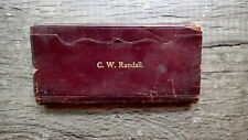 Circa 1883 Handwritten Diary Possible Attorney Ohio Railroads Stagecoach 40pp