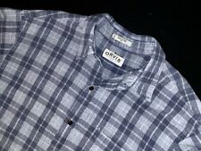 Orvis plaid shirt xl button down gray