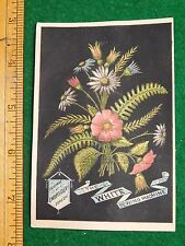 1870s-80s White Sewing Machine Facsimile Embroidery Victorian Trade Card F33