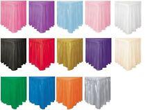 White Black Pink Gold 14ft Fringe Plastic Skirt tableskirt Party Decorations