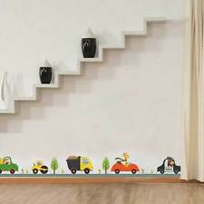 Animal Car Wall Stickers for Kid Room Children Boy Bedroom Wall Decals Decor Pop