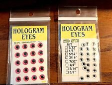 Wapsi Hologram Dome Eyes Choice of Color & Size ( One Package ) Fly Tyers
