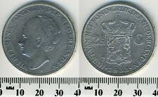 Netherlands 1932 - 2-1/2 Gulden Silver Coin - Queen Wilhelmina I