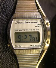 Nice Collectable Texas Instruments Digital Alarm Working Stainless Steel Watch