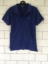 MENS VINTAGE RETRO RALPH LAUREN SHORT SLEEVE BLUE POLO TOP T SHIRT XS #132