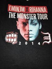 Eminem X Rihanna The Monster Tour 2014 Concert T Shirt Size Adult Small Detroit