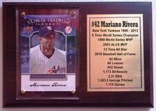 New York Yankees Mariano Rivera Baseball Card Plaque