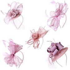 New Elegant Dusty Pink Hair Tie Fascinator Wedding Party Royal Ascot