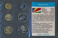 seychelles UNC coin set 2004-2007 1 cent until 5 Rupees (9030229