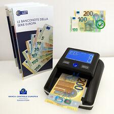 Rilevatore soldi falsi Conteggio Banconote Verifica Euro Aggiornato 100 200€