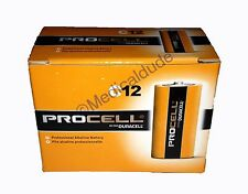 NEW DURACELL PROCELL C ALKALINE BATTERIES 12 (1 BOX) EXP 5+ YRS