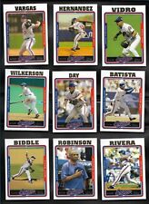 2005 Topps MONTREAL EXPOS - WASHINGTON NATIONALS Complete 20 Card Team Set