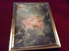 Vintage Victorian Women On Swing Gold Tone Compact Picture Holder/ 12 Pictures