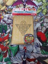 Yu-gi-oh 50 protège carte sleeves Millenium Or Gold yugi rare
