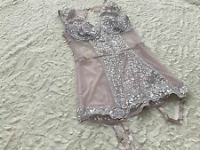 Victoria's Secret Lace Garter Corset Garter Lace Mash Boned New w/Tags Glamorous