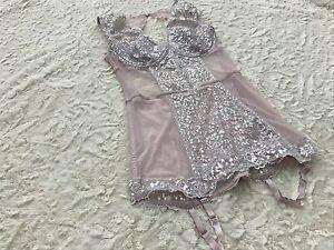 Victoria's Secret Lace Garter Corset Garter Lace Mash Boned New w/Tags Glamorous