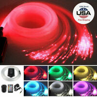 300pcs 2M LED Fiber Optic Light Star Ceiling Kit DIY Car 12v RGBW 12W Music NEW