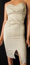 ***KOR KOR ABITO Tubino sexy  DRESS  TG.40 in cotone elasticizzato, colore beige