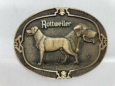 Vintage ROTTWEILER ADM Brass Belt Buckle 3 ¼ inches Award Design Medals