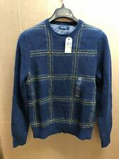 NAUTICA MENS DOUBLE KNIT PULLOVER SWEATER 4TN TRUE NAVY SIZE M