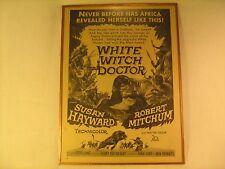 Original Movie Print Ad WHITE WITCH DOCTOR Susan Hayward R Mitchum 1946 [Y79C3b